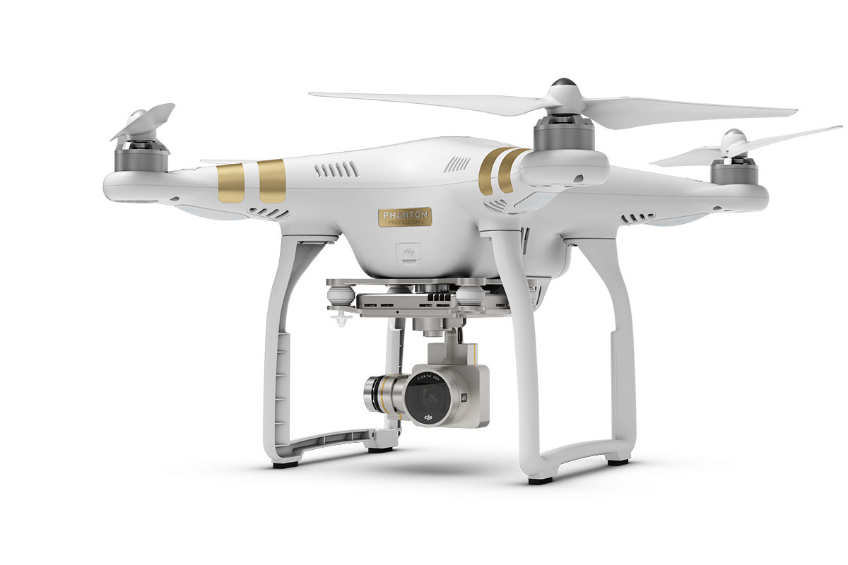Phantom 3 Professional, 4K high quality camera.