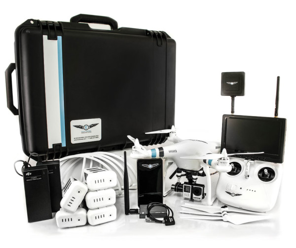 DJI Phantom 2 Drone, offered in a sizeable kit, the Parallax Package, to fit higher needs.