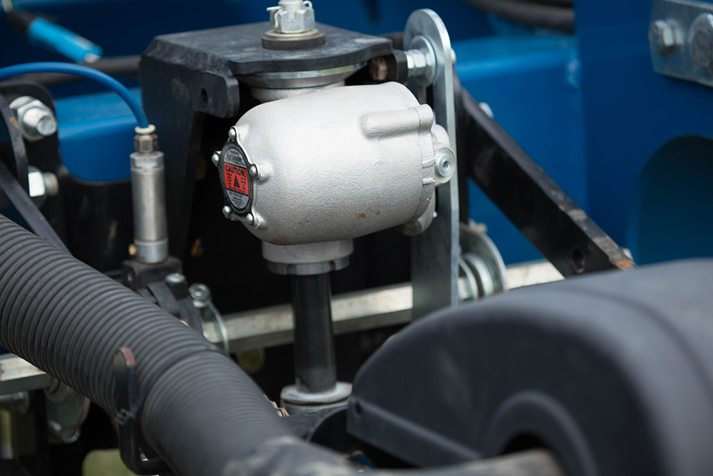 Using Ag Leader's Hydraulic Down Force system from Ag Leader dramatically increases your seed planting depth.