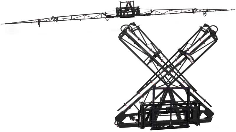 The hydraulic X-fold boom by Demco is one of the features of our inventory! Call us today.